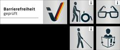 Barrierefrieheit gepfüft Icons